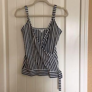 NWT JCrew sleeveless striped shirt.